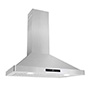COSMO WALL MOUNT RANGE HOOD 760-CFM WITH CEILING CHIMNEY-STYLE OVER STOVE VENT