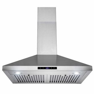 European Style New Wall Mount Range Hood Stainless-Steel Touch Control