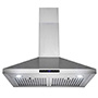 EUROPEAN STYLE NEW WALL MOUNT RANGE HOOD STAINLESS STEEL TOUCH CONTROL