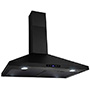 GOLDEN VANTAGE WALL MOUNT RANGE HOOD STAINLESS STEEL BLACK TOUCH PANEL